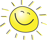 cartoon image of sun with smiley face